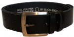 "38mm Bucklebox Black Leather Belt with Detachable Buckle 1½"" wide"